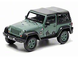 GreenLight Collectibles Jeep Wrangler JK U.S. Army Soft Top Diecast Model - 1:43 Scale