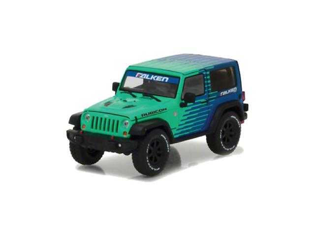 GreenLight Collectibles 2014 Jeep Wrangler JK Rubicon Falken Edition Diecast Model - 1:43 Scale
