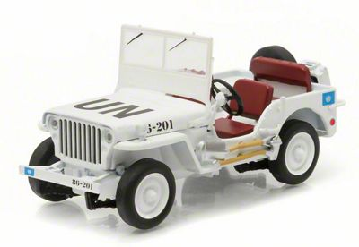GreenLight Collectibles Jeep Wrangler Willys Special Edition United Nations Diecast Model - 1:43 Scale