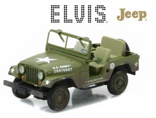 GreenLight Collectibles Jeep Wrangler Elvis Presley Cold War Era Diecast Model - 1:43 Scale