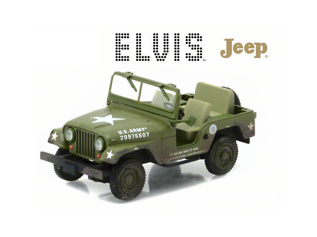 GreenLight Collectibles Jeep Wrangler Elvis Presley Cold War Era Diecast Model - 1:43 Scale