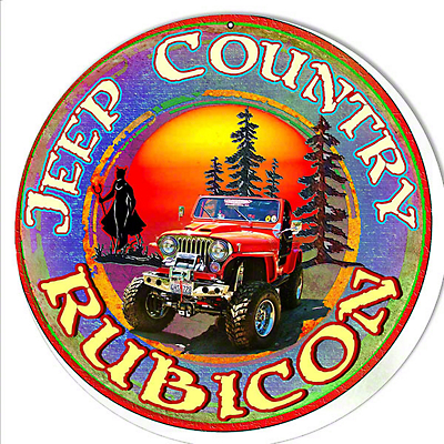 Jeep Country Rubicon Round Sign