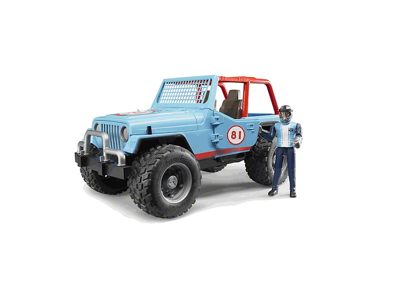 Blue Jeep Wrangler Cross Country Racer - 1:16 Scale
