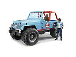 Blue Jeep Wrangler Cross Country Racer; 1:16 Scale