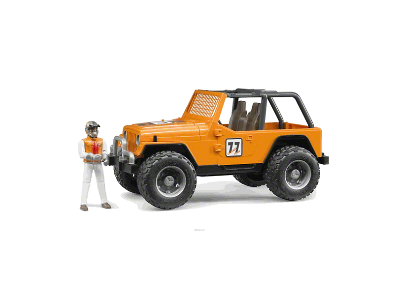 Orange Jeep Wrangler Cross Country Racer - 1:16 Scale