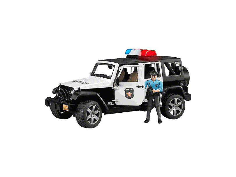 Jeep Wrangler JK Unlimited Rubicon Police Toy - 1:16 Scale