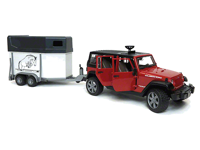 Jeep Wrangler Jk Unlimited W Horse Trailer 1 16 Scale
