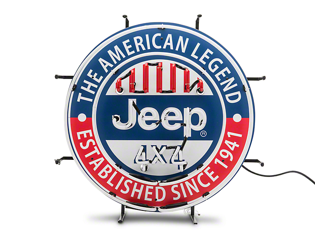 American Legend Jeep 4x4 Neon Sign