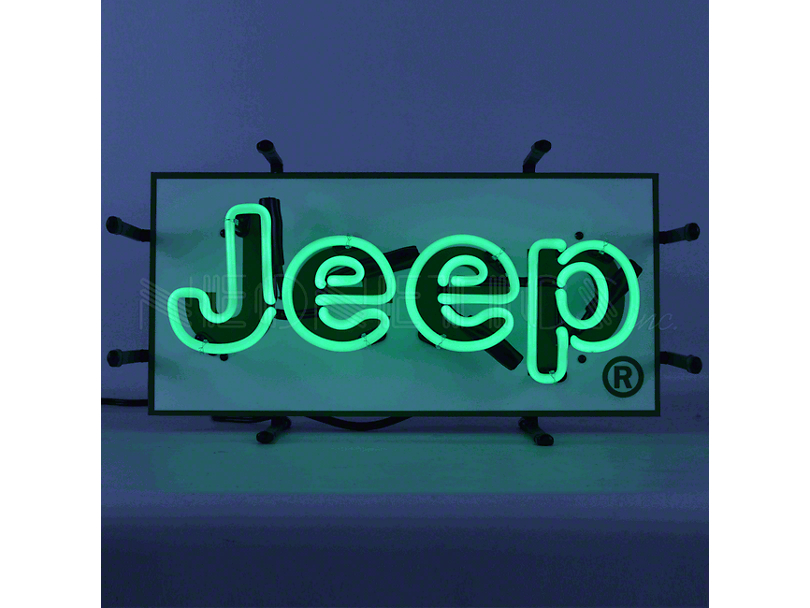 Junior Size Green Jeep Neon Sign