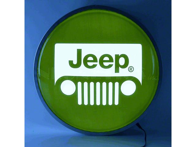 Jeep Wrangler Grille Backlit LED Lighted Sign