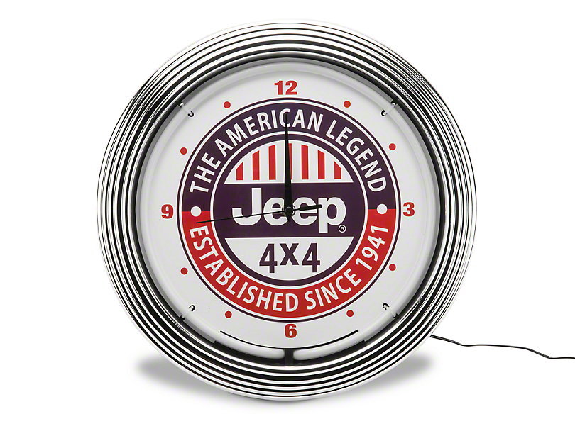 American Legend Jeep 4x4 Neon Clock
