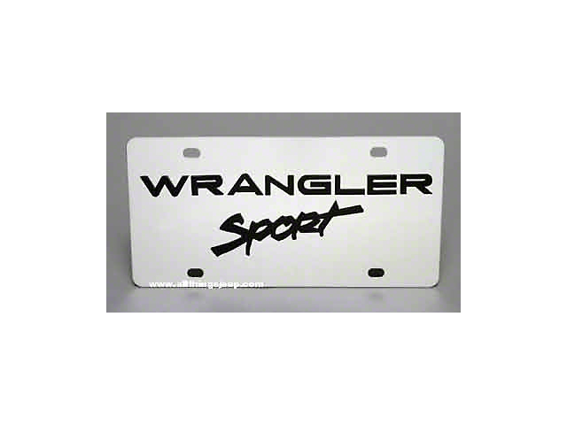 Jeep Wrangler Sport License Plate; Stainless Steel