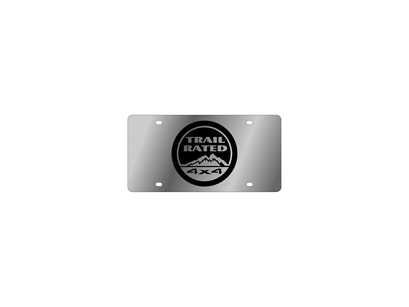 Trail Rated 4x4 License Plate - Stainless Steel (Universal Fitment)