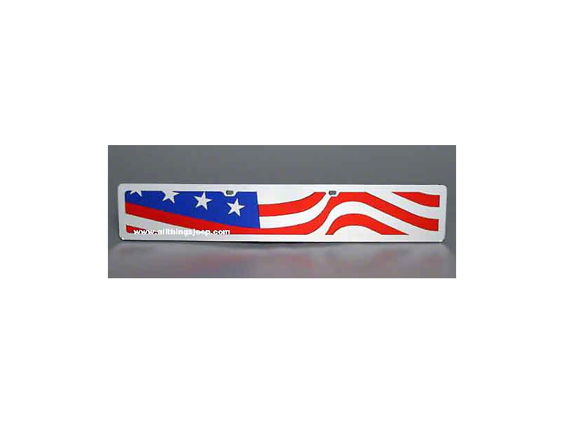 Wavy USA Flag License Plate