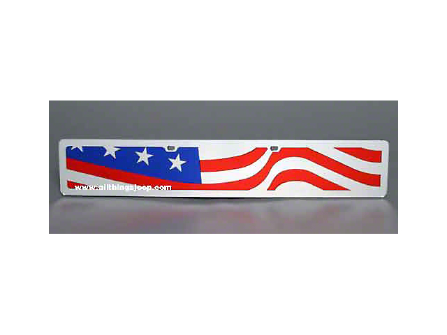 Wavy USA Flag License Plate