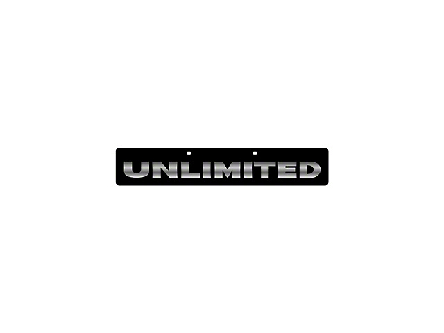 Mirror Finish Unlimited License Plate