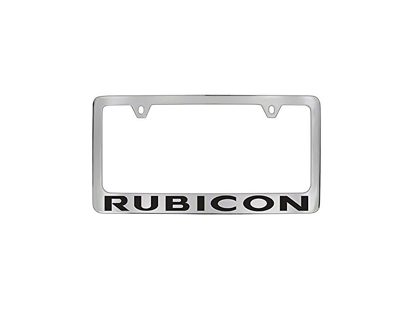 Jeep Wrangler Rubicon License Plate Frame