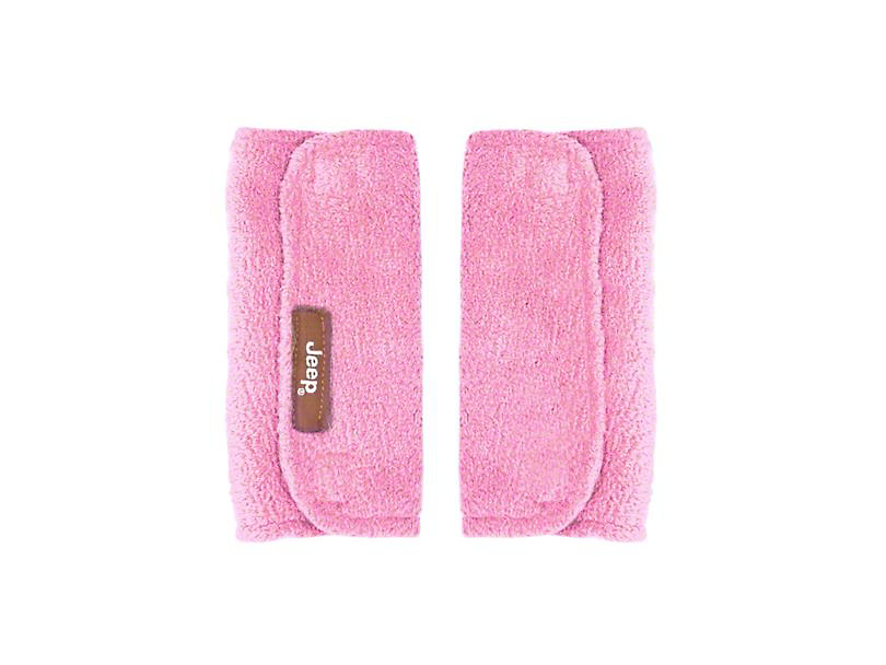 Jeep Baby Seat Belt Strap Covers - Pink
