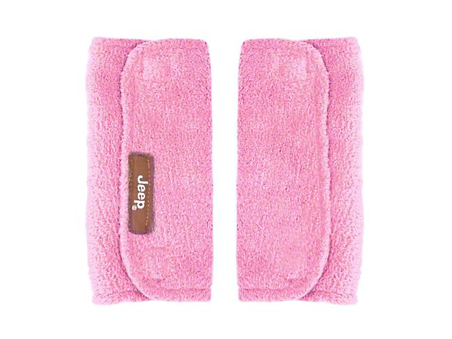 Jeep Baby Seat Belt Strap Covers; Pink