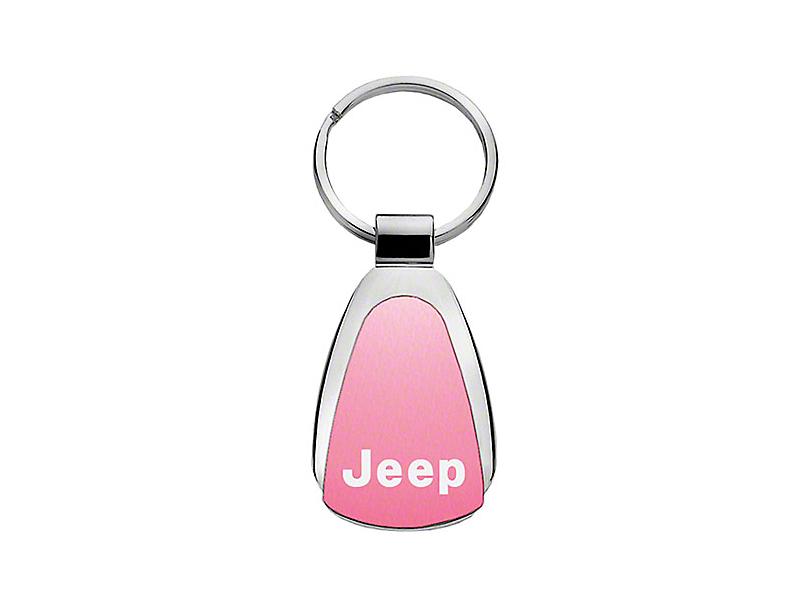 Jeep Keychain & Keyring - Pink Teardrop