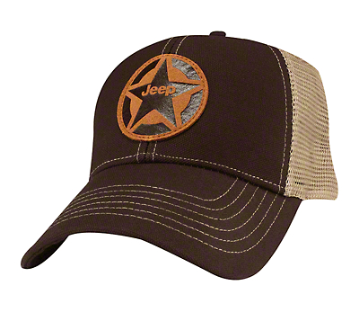 Jeep Star Leather Patch Hat