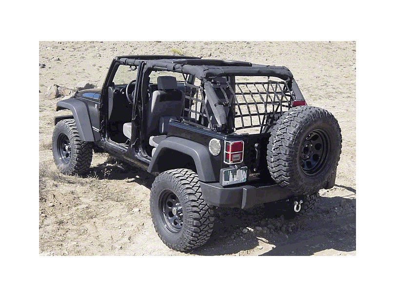Raingler Nets Standard Net System - Black (07-18 Jeep Wrangler JK 4 Door)
