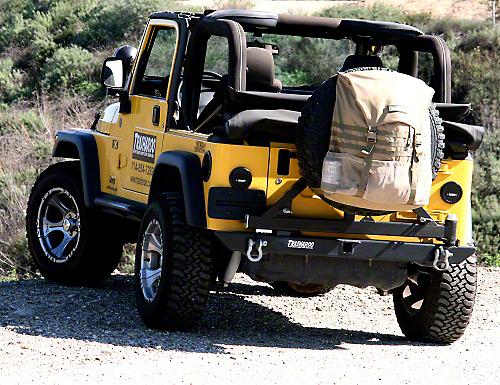 Trasharoo Spare Tire Trash Bag - Black (87-18 Jeep Wrangler YJ, TJ, JK & JL)