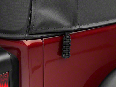 Paracord Zipper Pulls for Soft Tops - Black (87-18 Jeep Wrangler YJ, TJ, JK & JL)