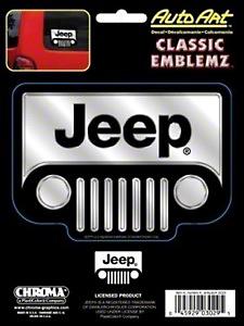 Chroma Jeep Wrangler Classic Emblem Decal - Chrome