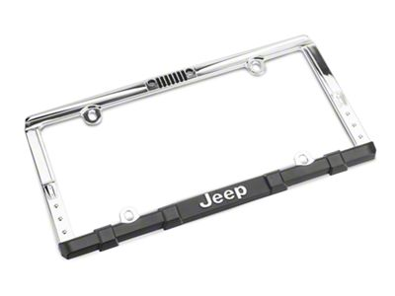 Chroma Jeep Wrangler Grille License Plate Frame w/ Keychain
