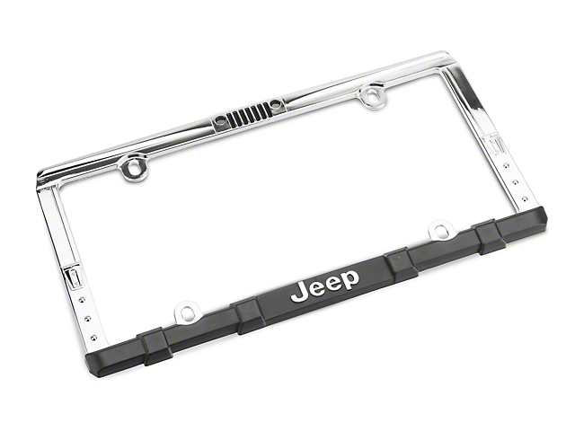 Chroma Jeep Wrangler Grille License Plate Frame with Keychain