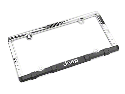Chroma Jeep Wrangler Grille License Plate Frame w/ Keychain
