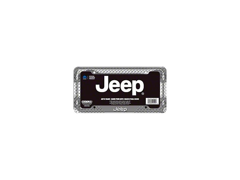 Chroma Jeep Treadplate License Plate Frame