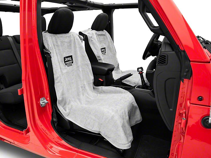 Seat Armour Jeep Wrangler Grille Seat Towel - Gray (87-20 Jeep Wrangler YJ, TJ, JK & JL)