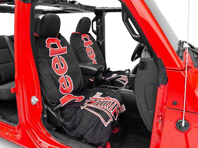 Seat Armour Towel 2 Go - Black & Red (87-20 Jeep Wrangler YJ, TJ, JK & JL)
