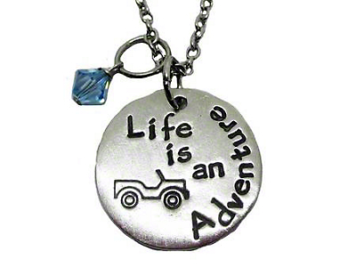 Life is an Adventure Jeep Wrangler Necklace