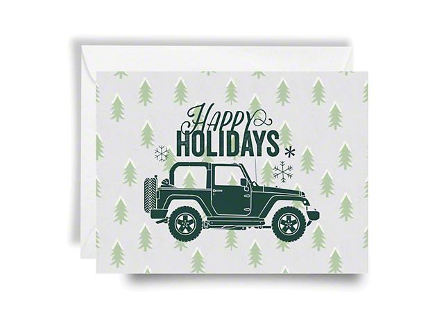 Jeep Holiday Card Happy Holidays; Green Print
