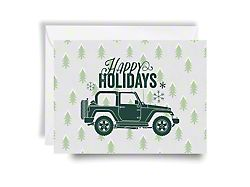 Jeep Holiday Card Happy Holidays - Green Print