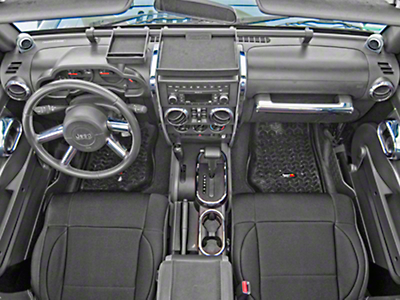 Rugged Ridge Interior Trim Accent Kit - Chrome (07-10 Jeep Wrangler JK 4 Door w/ Automatic Transmission & Manual Windows)