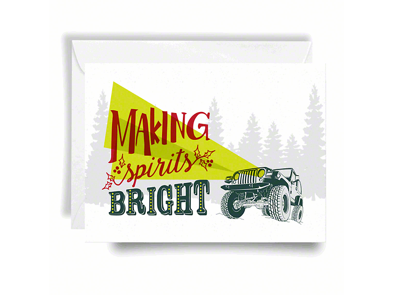 Jeep Holiday Card Making Spirits - Bright Print