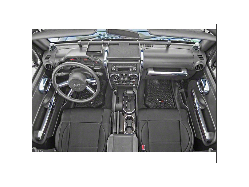 Rugged Ridge Interior Trim Accent Kit - Chrome (07-10 Jeep Wrangler JK 4 Door w/ Automatic Transmission & Power Windows)