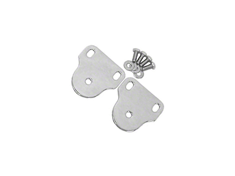 Rugged Ridge Interior Windshield Brackets - Stainless Steel (87-95 Jeep Wrangler YJ)