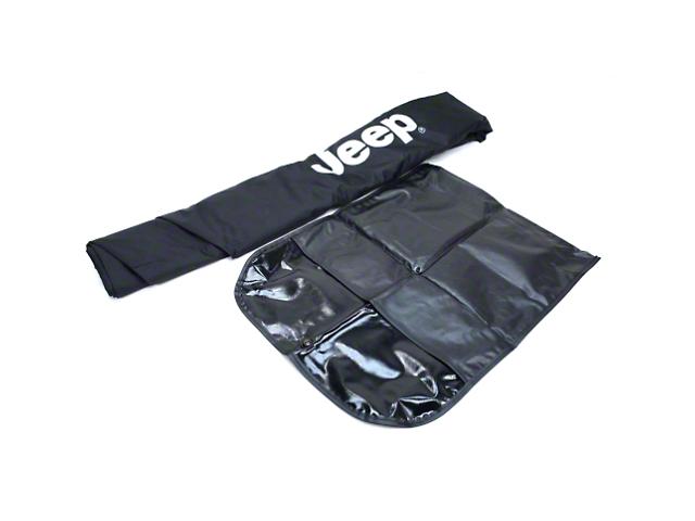 Mopar Cab Cover w/ Jeep Logo - Black (07-18 Jeep Wrangler JK 4 Door)
