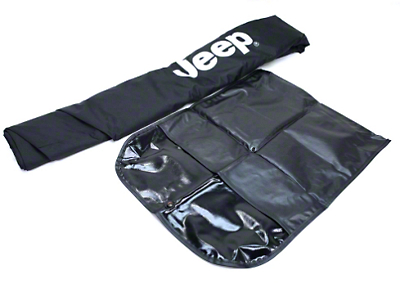 Mopar Cab Cover w/ Jeep Logo - Black (07-18 Jeep Wrangler JK 4 Door)