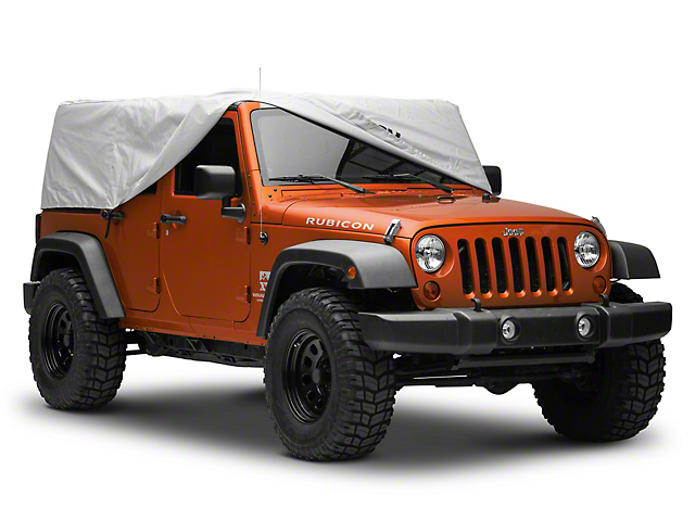 Mopar Cab Cover with Jeep Logo; Silver (07-18 Jeep Wrangler JK 4 Door)