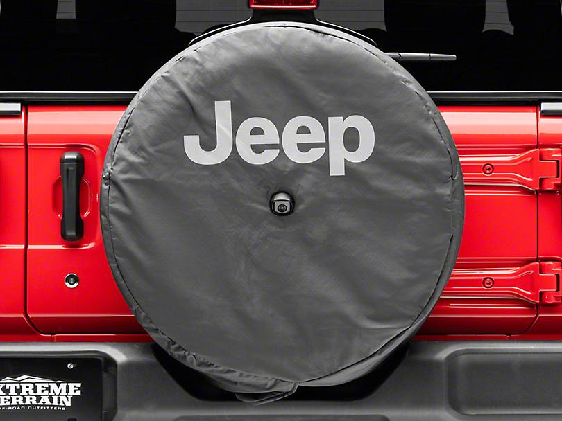 Mopar 32 in. Jeep Logo Spare Tire Cover - Black (18-19 Jeep Wrangler JL)