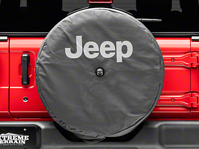 Mopar 32 in. Jeep Logo Spare Tire Cover - Black (2018 Jeep Wrangler JL)
