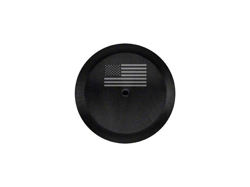 Mopar 32 in. American Flag Spare Tire Cover - Black (18-20 Jeep Wrangler JL)
