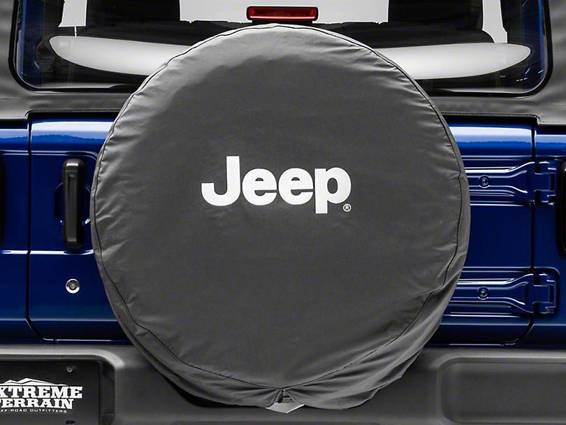 Mopar Jeep Logo Spare Tire Cover - Black & White (87-19 Jeep Wrangler YJ, TJ, JK & JL)