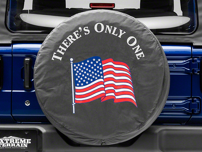 Mopar There's Only One American Flag Spare Tire Cover (87-19 Jeep Wrangler YJ, TJ, JK & JL)